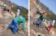Moradores fazem mutirão e consertam sangradouro do Açude Jacu em Patos