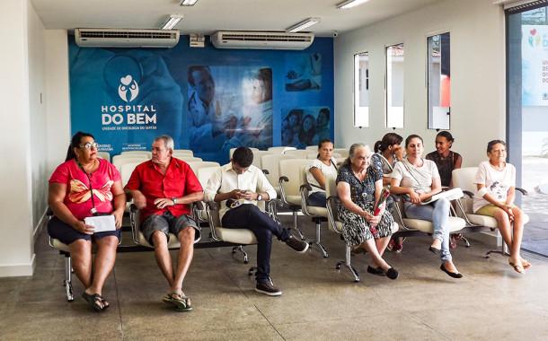 Hospital do Bem só atende pacientes com atendimentos agendados previamente