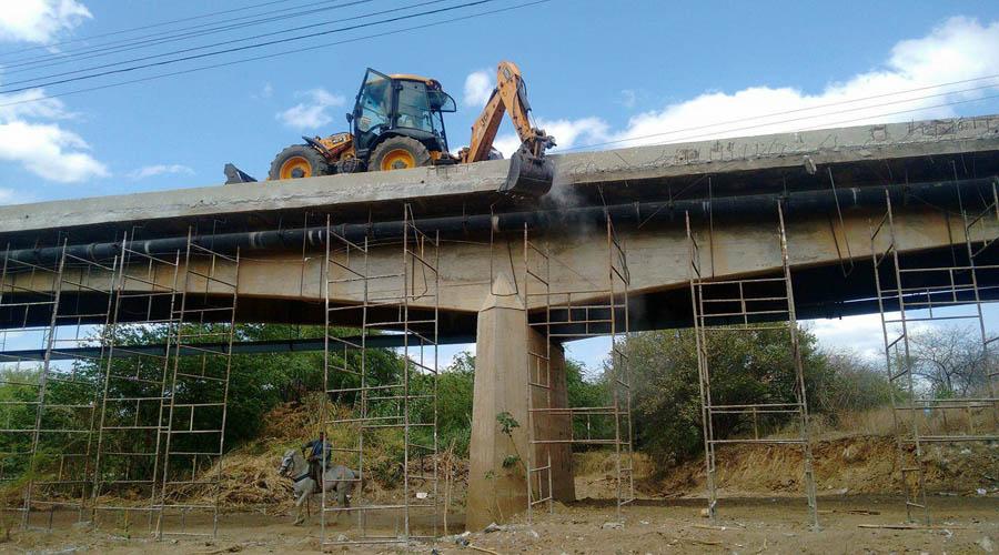 Serviços na ponte do Jatobá serão concluídos no fim de março