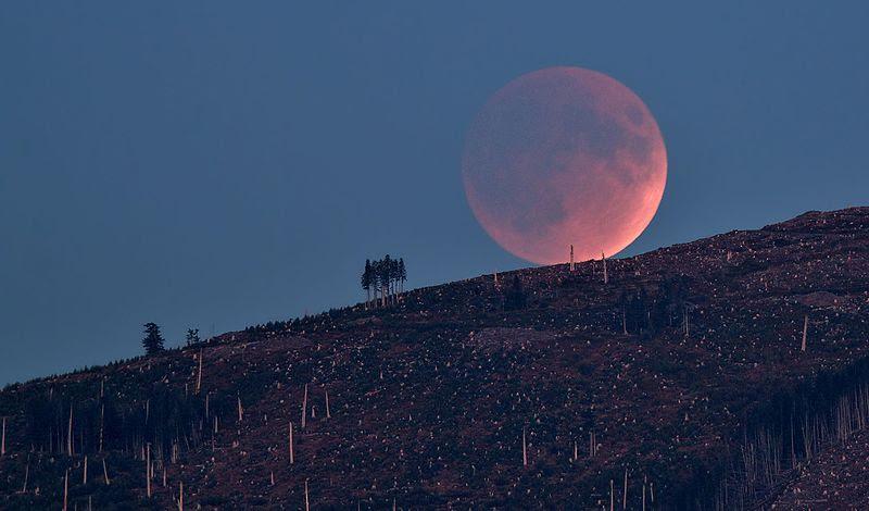 Eclipse lunar e Marte darão show no céu na sexta-feira