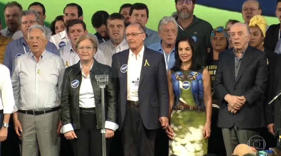 Alckmin diz que, se eleito, devolverá ao país 'dignidade roubada'
