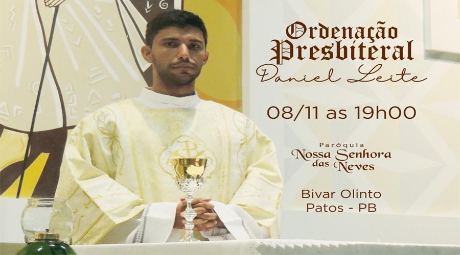 Bivar Olinto, em Patos, se prepara para ordenação de um novo padre