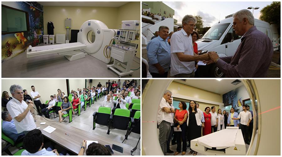 Ricardo entrega tomógrafo, veículos refrigerados e outros equipamentos para a rede estadual de saúde
