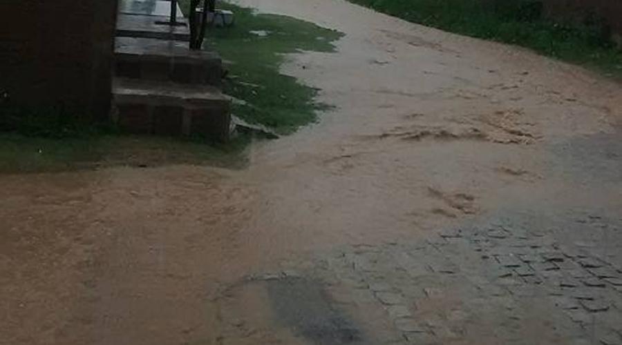 Chove 43 mm no centro de Patos e 50 mm na zona oeste da cidade
