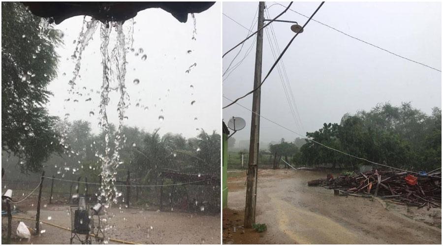 Choveu 73,5 mm em Olho D'água, e 64,3 em Emas