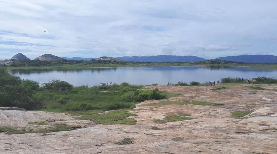 Açude do Jatobá pegando muita água
