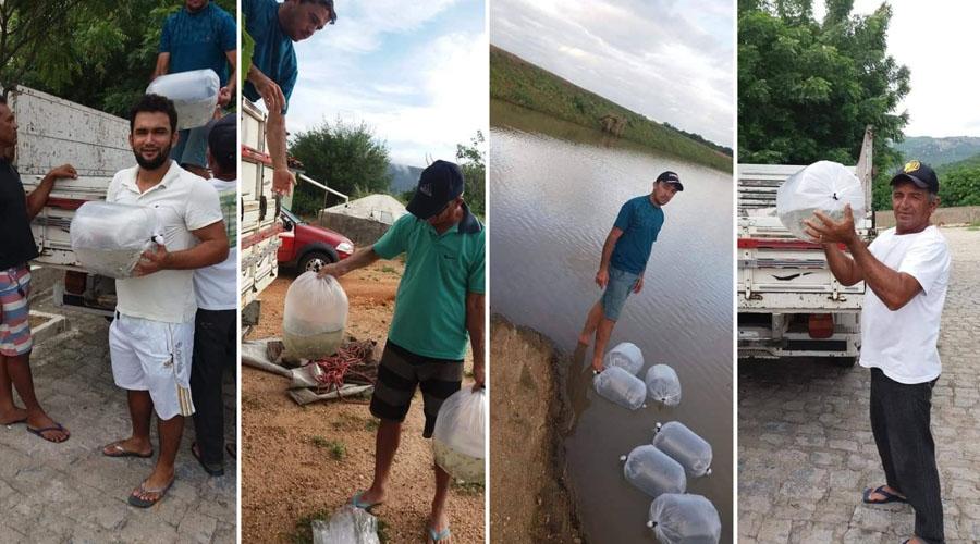 Prefeitura de Passagem distribui alevinos para pequenos agricultores do município