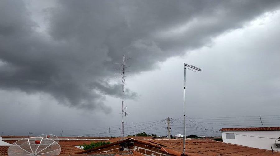 Índices das chuvas das últimas 24 horas na região de Patos