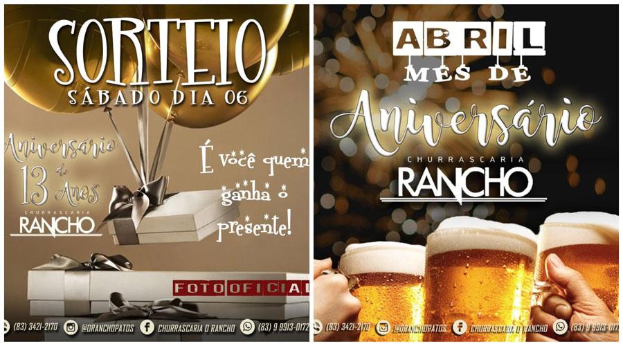 Churrascaria O Rancho faz aniversário e sorteia brindes todas as sextas e sábados para os clientes