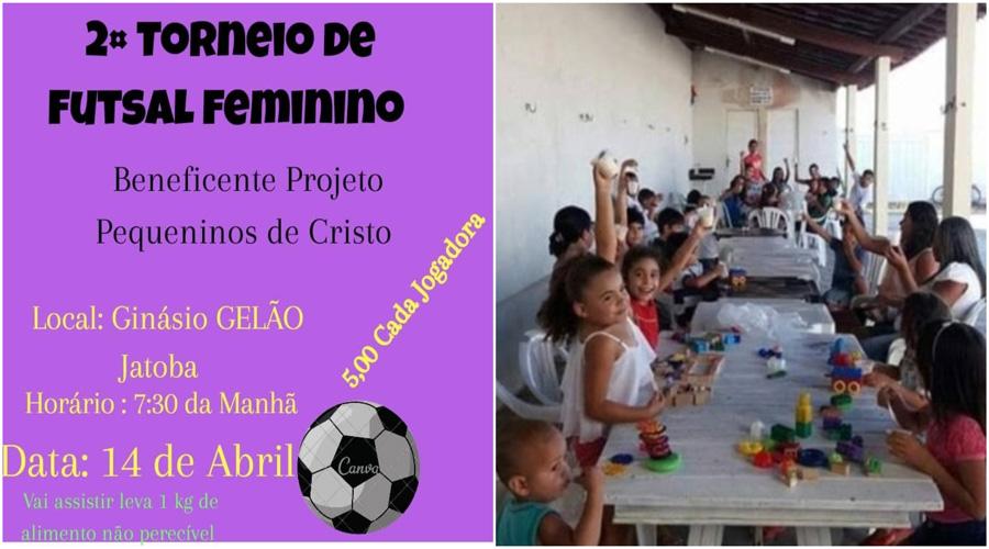 Torneio de futsal feminino será realizado em prol das crianças da região da Barragem da Farinha
