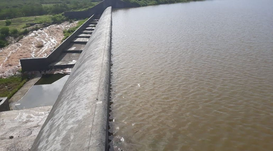 Faltam 70 cm para a Barragem da Farinha transbordar
