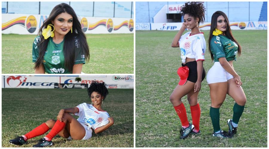 Ensaio fotográfico com as musas do Nacional e do Esporte de Patos