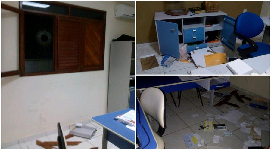 Bandidos invadem igreja de Nossa Senhora de Fátima e destroem secretaria