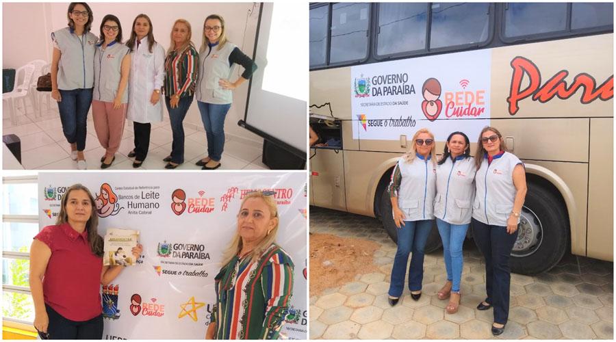 Profissionais do Banco de Leite de Patos participarão de  ações da Caravana da Rede Cuidar em três localidades