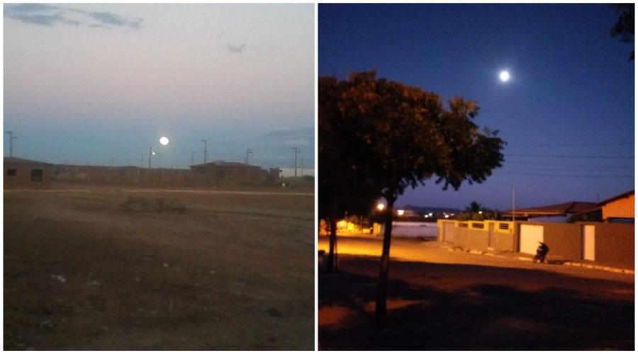 A Lua esbanjando beleza na noite de São Mamede