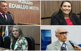 Quatro candidatos a presidente da Câmara (quem vencer será prefeito (a) de Patos)