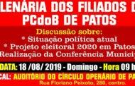 PCdoB faz plenária municipal e discute Eleições 2020 em Patos