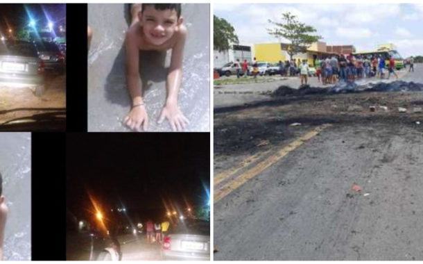 População interdita BR-104 após morte de criança de 8 anos em acidente, em Remígio-PB