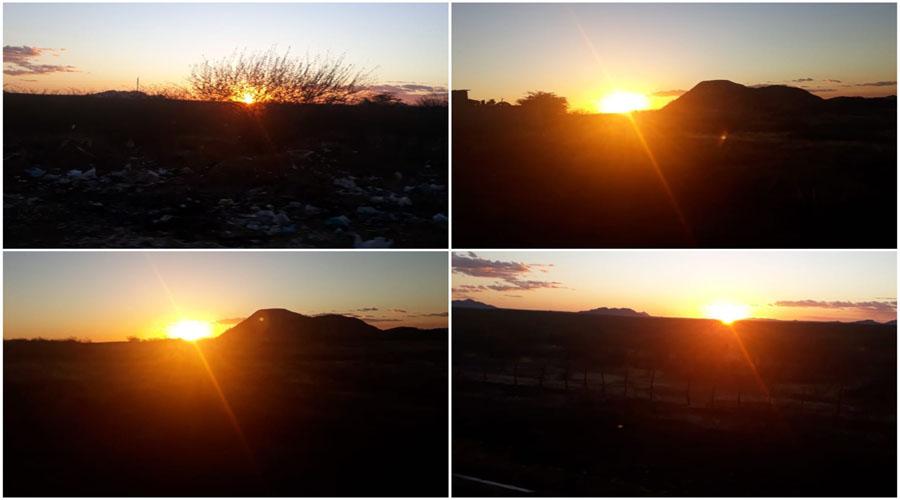 A beleza do pôr do sol em Patos